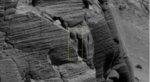 Egyptian Statue on Mars