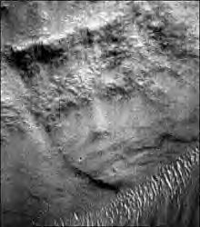 woman's face on mars